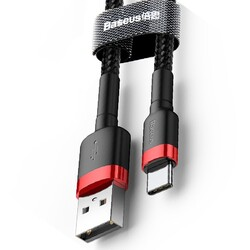Baseus Cafule Usb Type C 1 Metre 3.0A Hızlı Şarj Halat Usb Kablo - Thumbnail